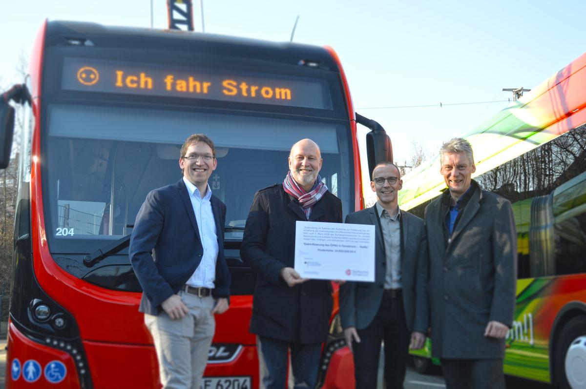 Fördermittel für Elektrobusse der Stadtwerke Osnabrück