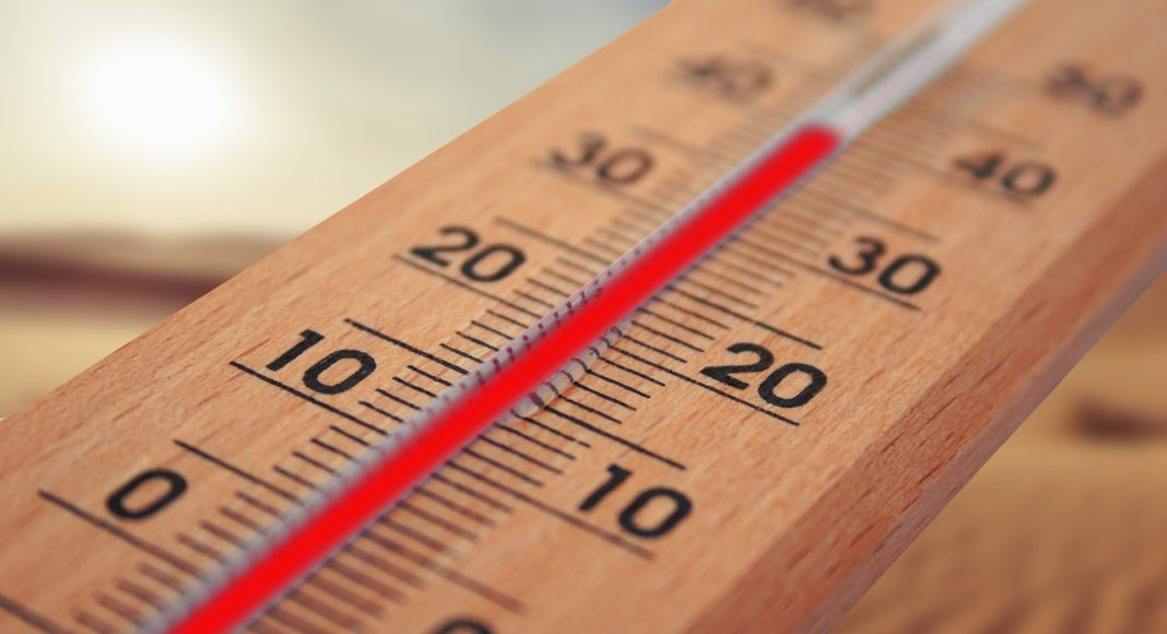 Thermometer,, Hitze, Sommer