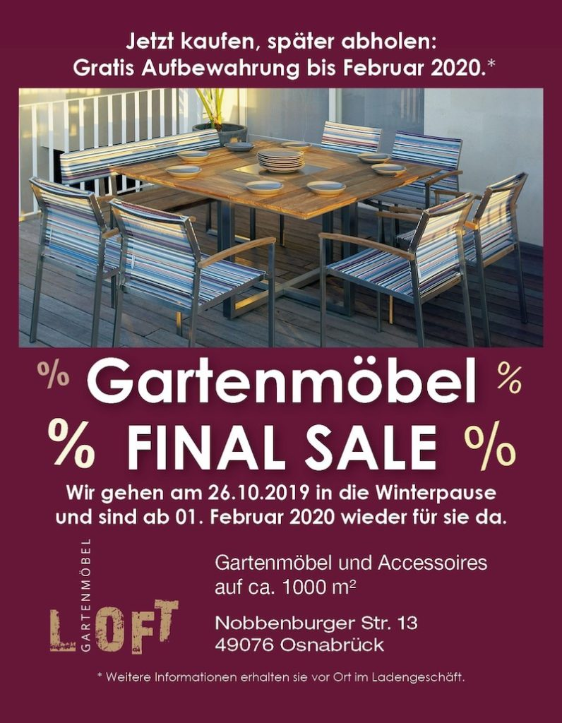 Gartenmöbel Final Sale